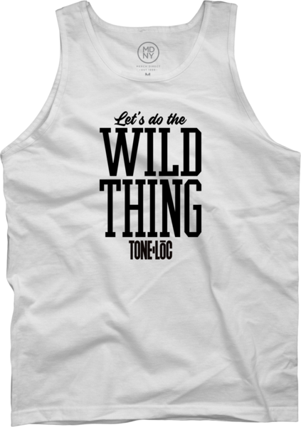 Wild thing On White Tank Top