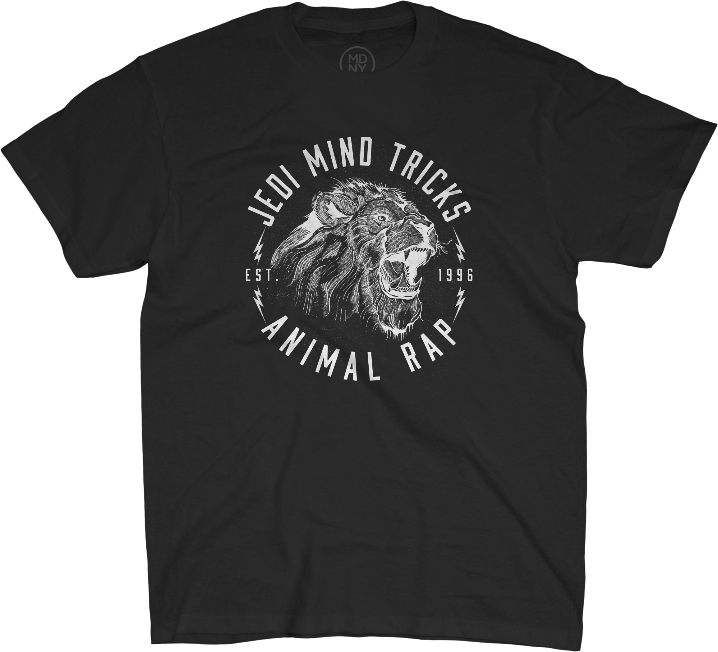Lion Animal Rap on Black T-Shirt