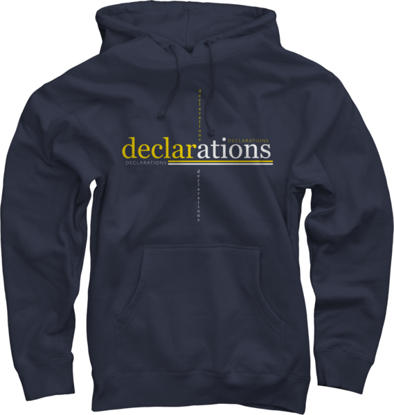 Declarations on Navy Pullover