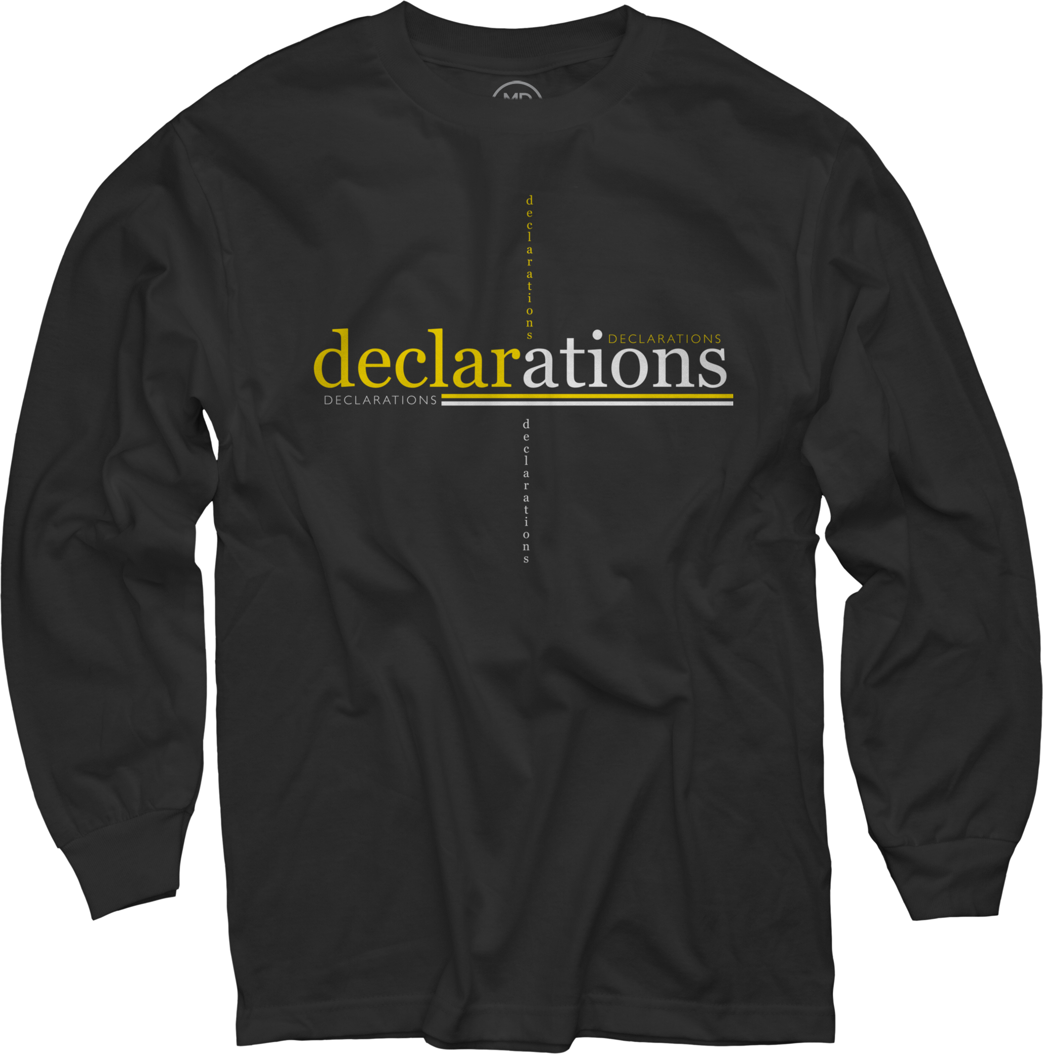 Declarations on Black Long Sleeve