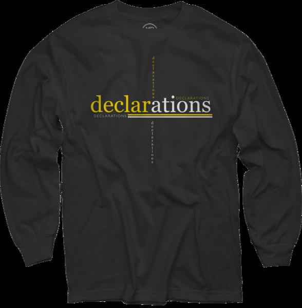 Declarations on Black Long Sleeve
