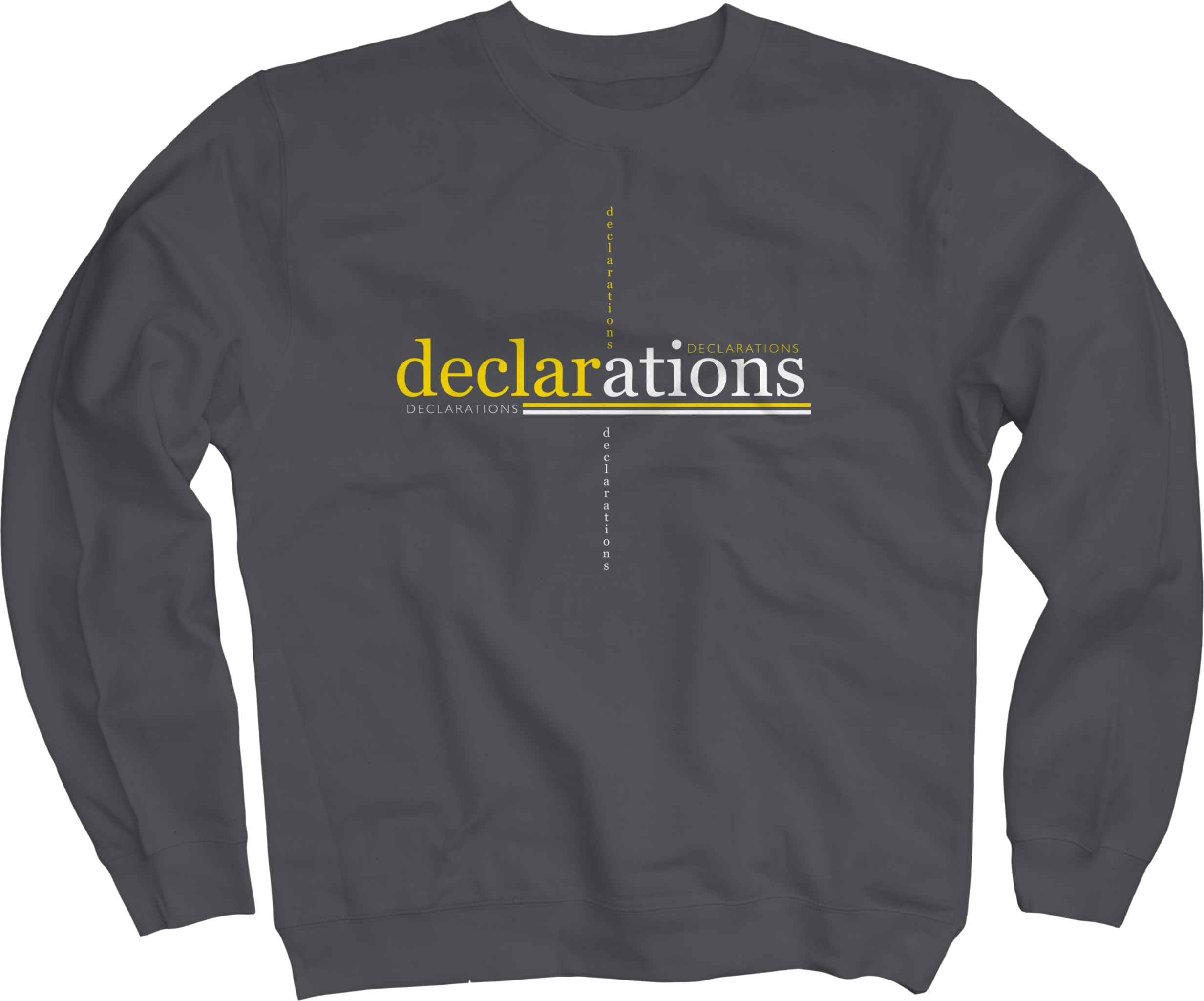 Declarations on Charcoal Crewneck