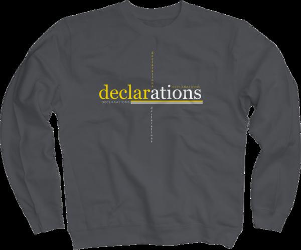 Declarations on Charcoal Crewneck