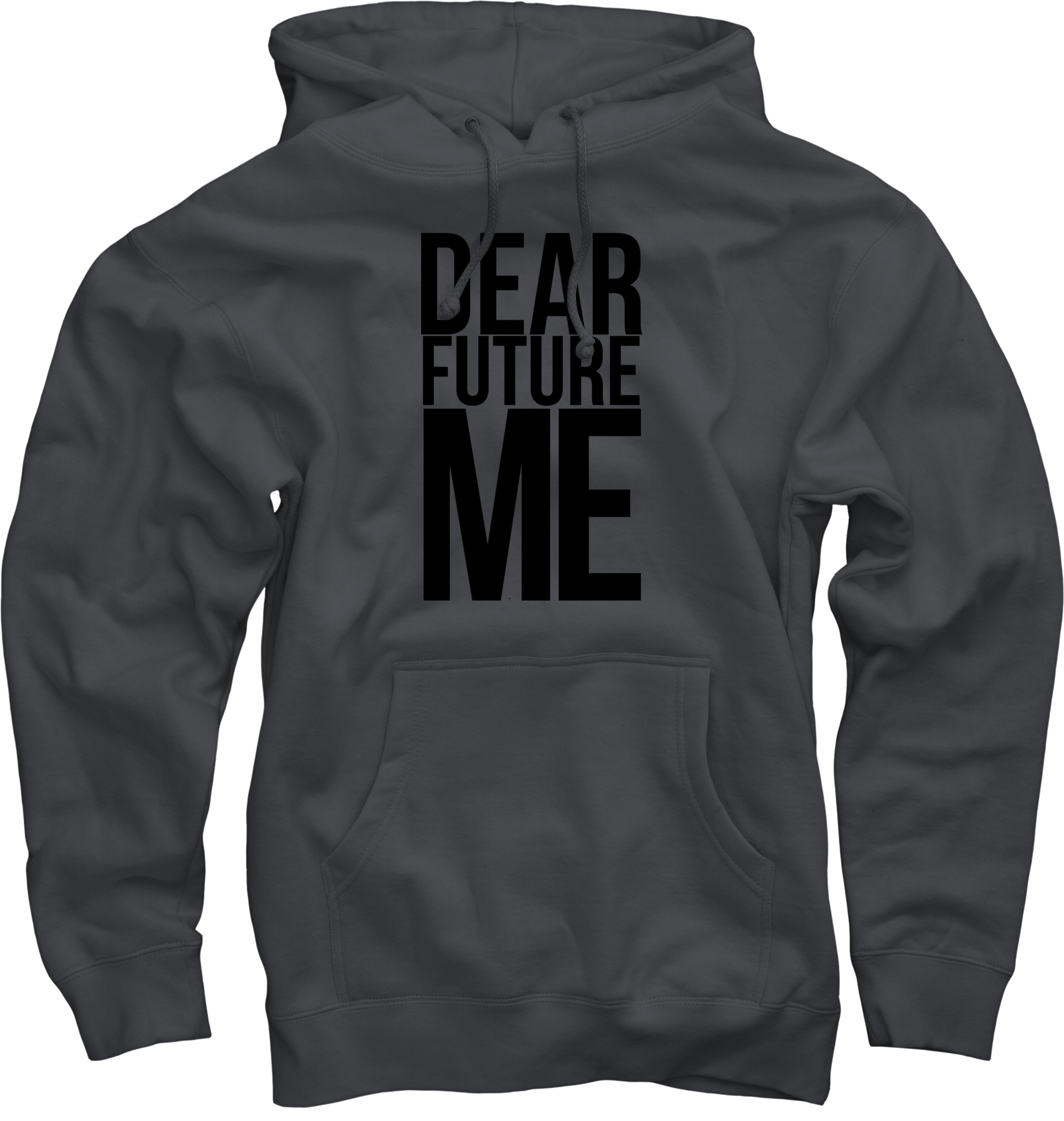 Dear Future Me on Charcoal Pullover