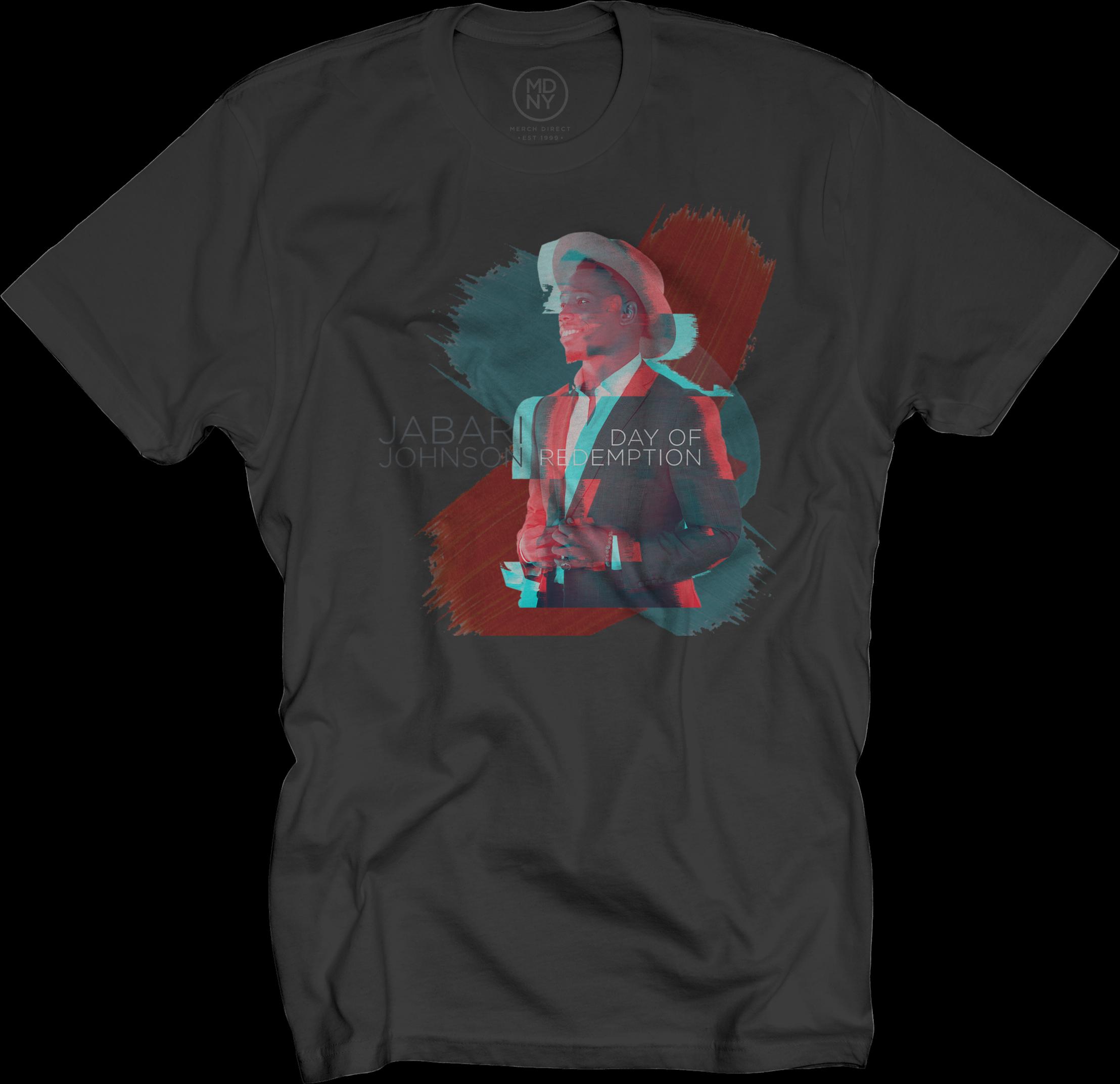Jabari Johnson on Black T-Shirt