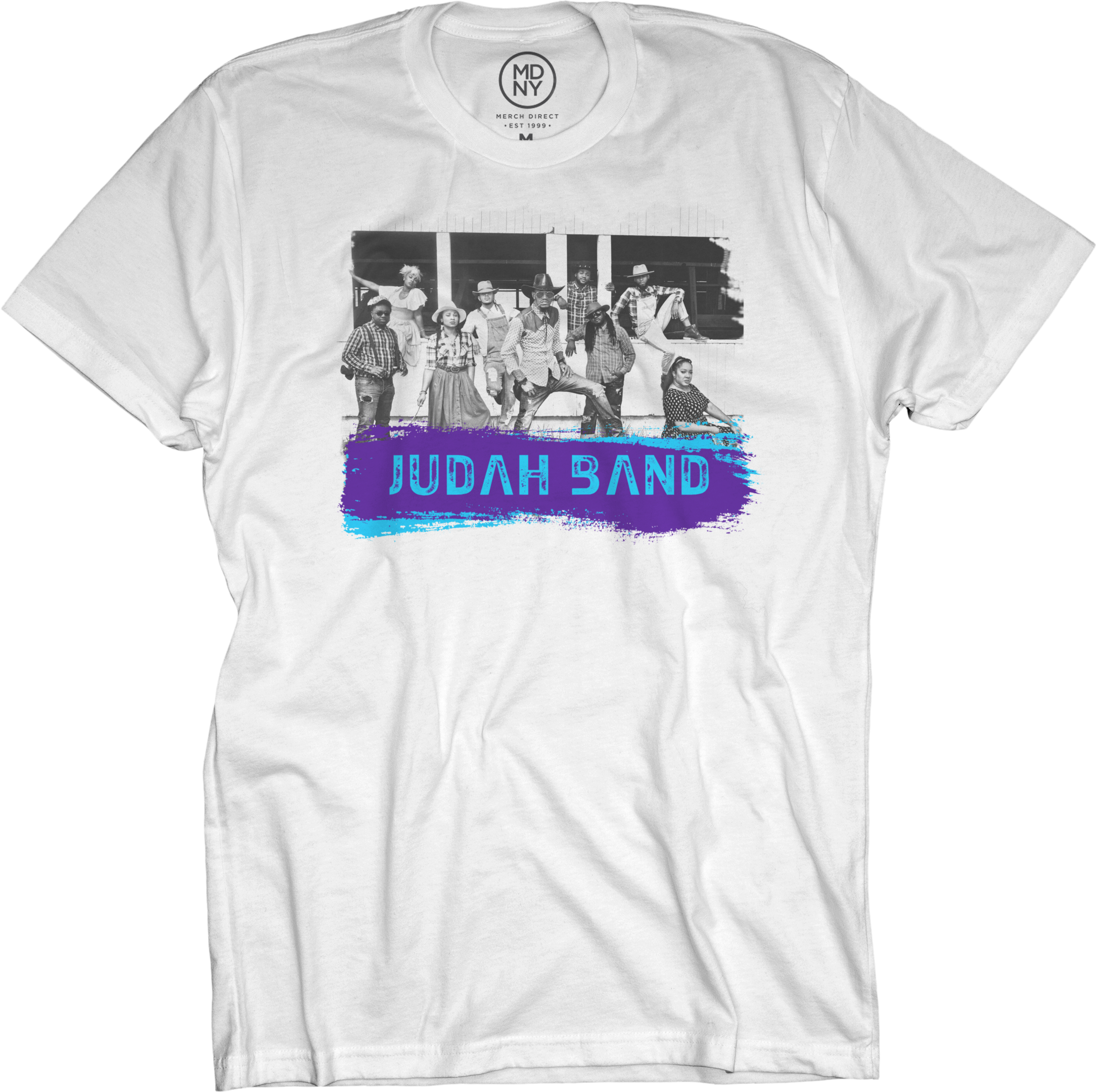 Judah Band on White T-Shirt
