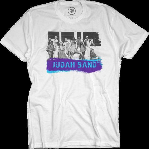 Judah Band on White T-Shirt