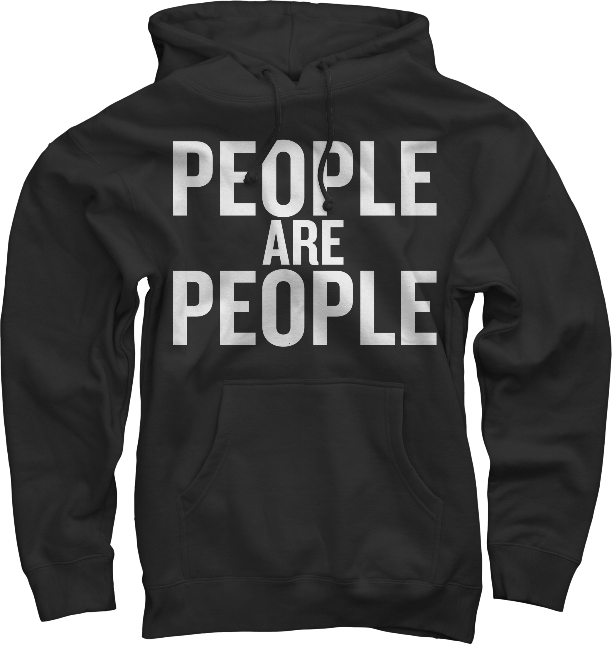 People Are People White on Black Sweatshirt