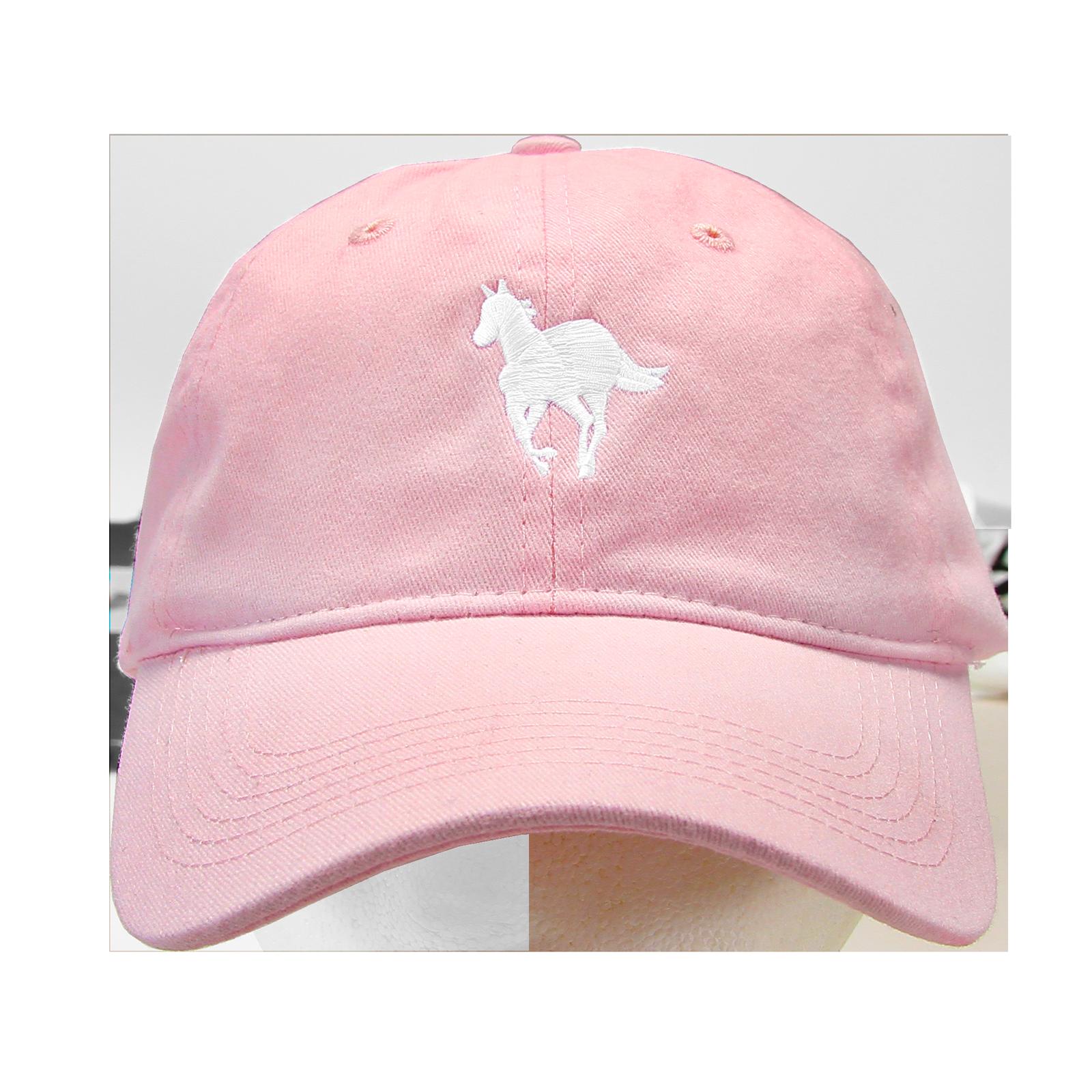 White Pony Pink Dad Hat