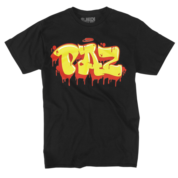 King Paz Tag on Black T-Shirt