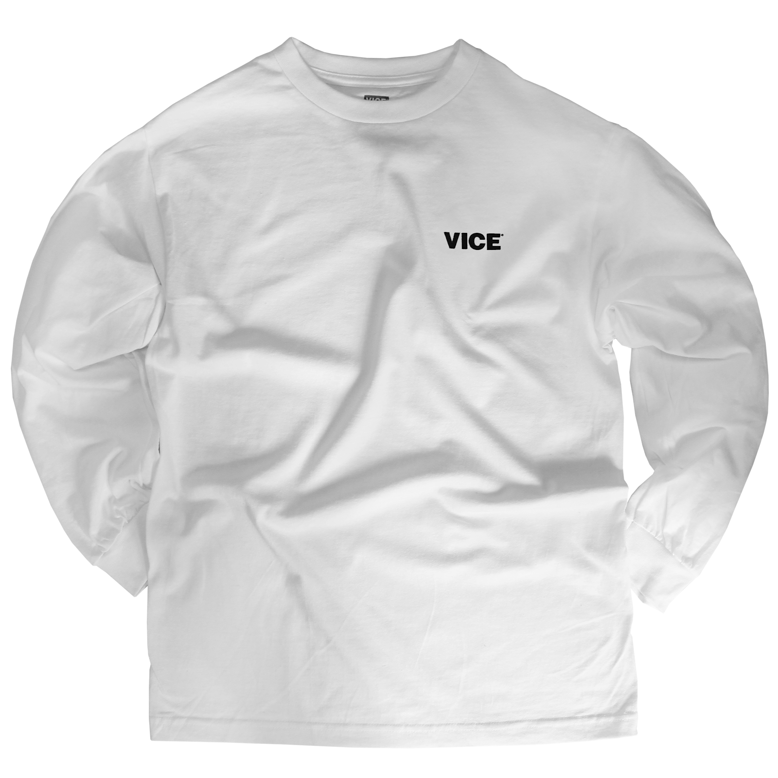 VICE White Long-Sleeve T-Shirt