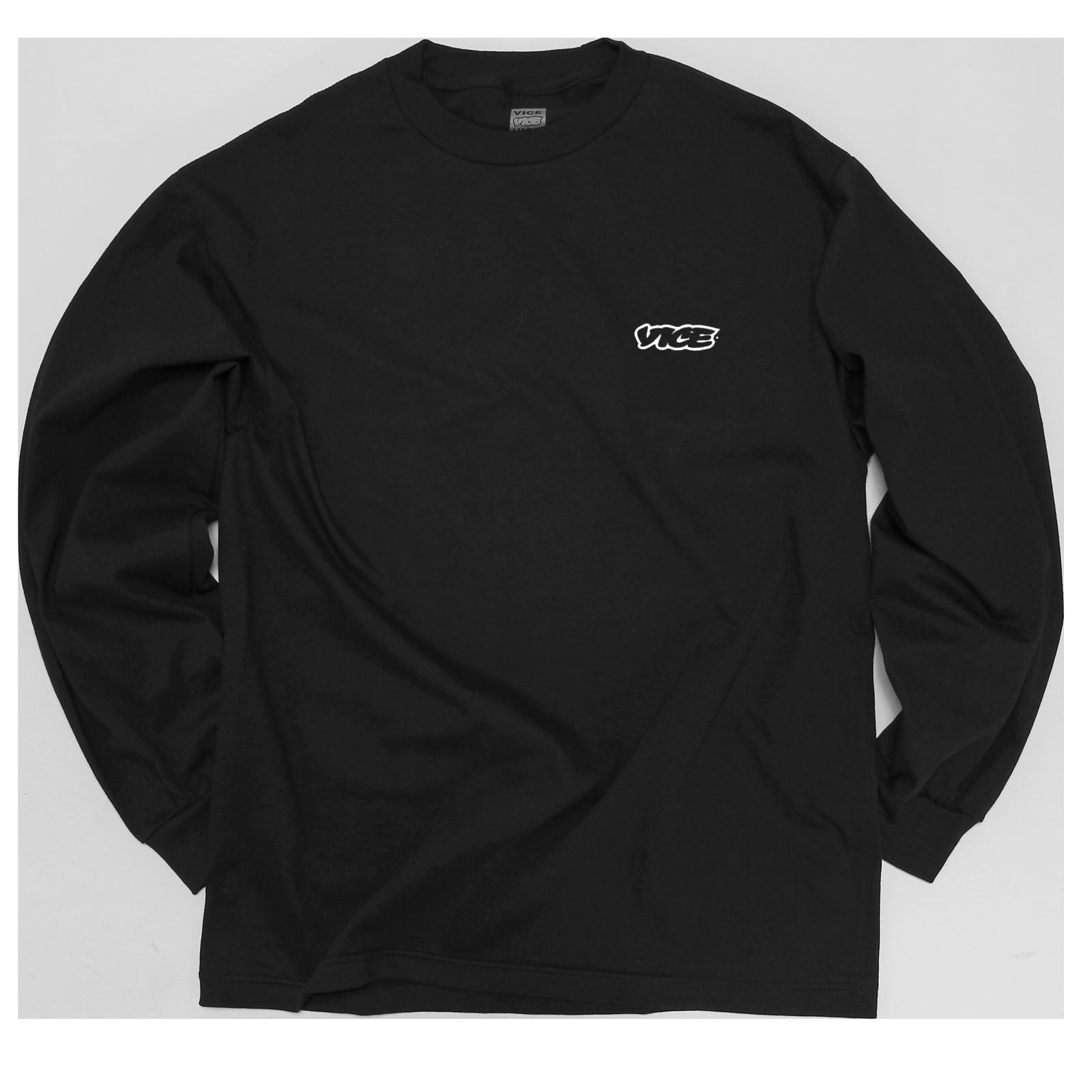 VICE Classic Black Long-Sleeve T-Shirt
