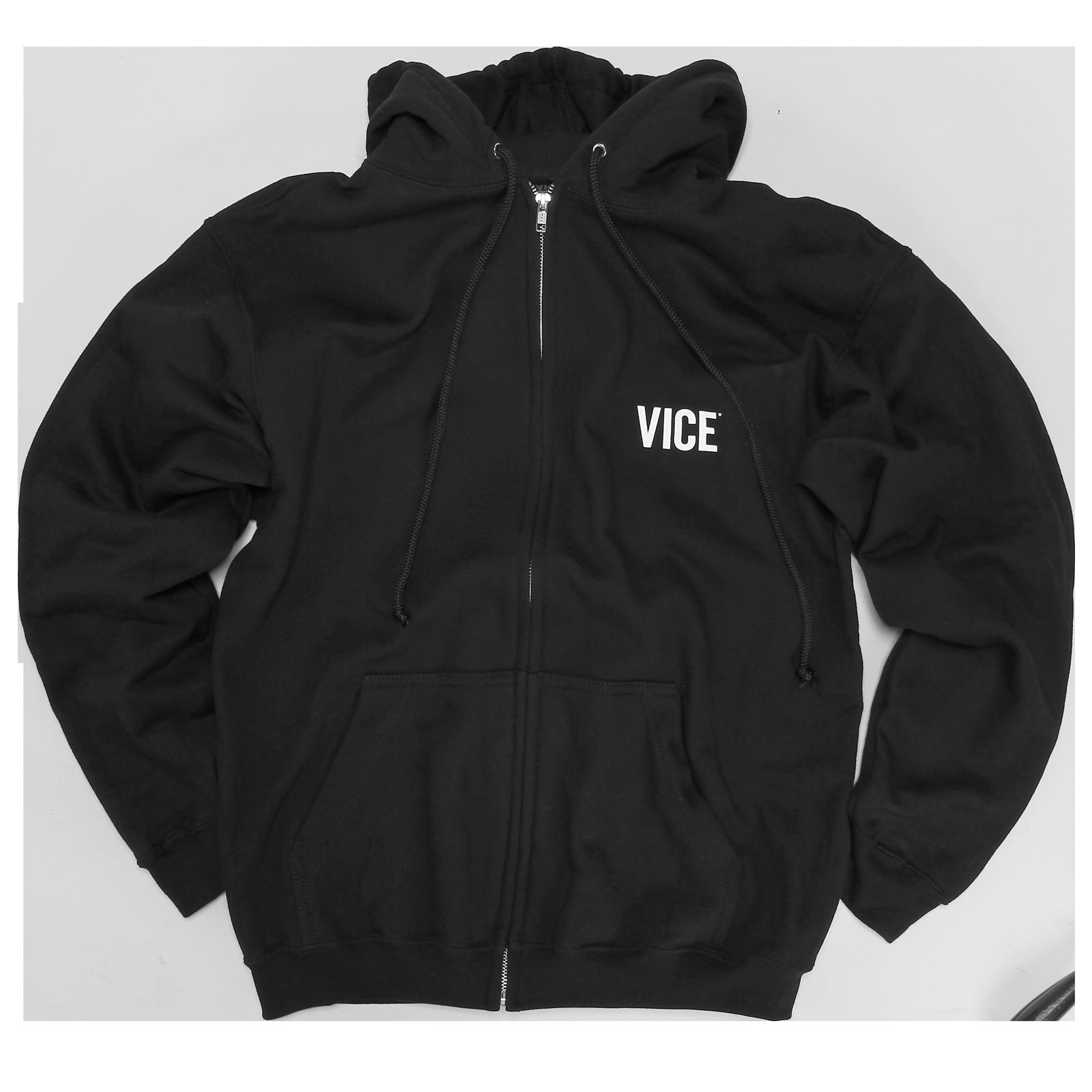 VICE Black Zipper Hoodie