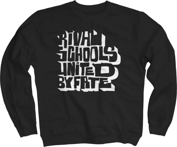 Old School Black Crew Neck Sweatshirt