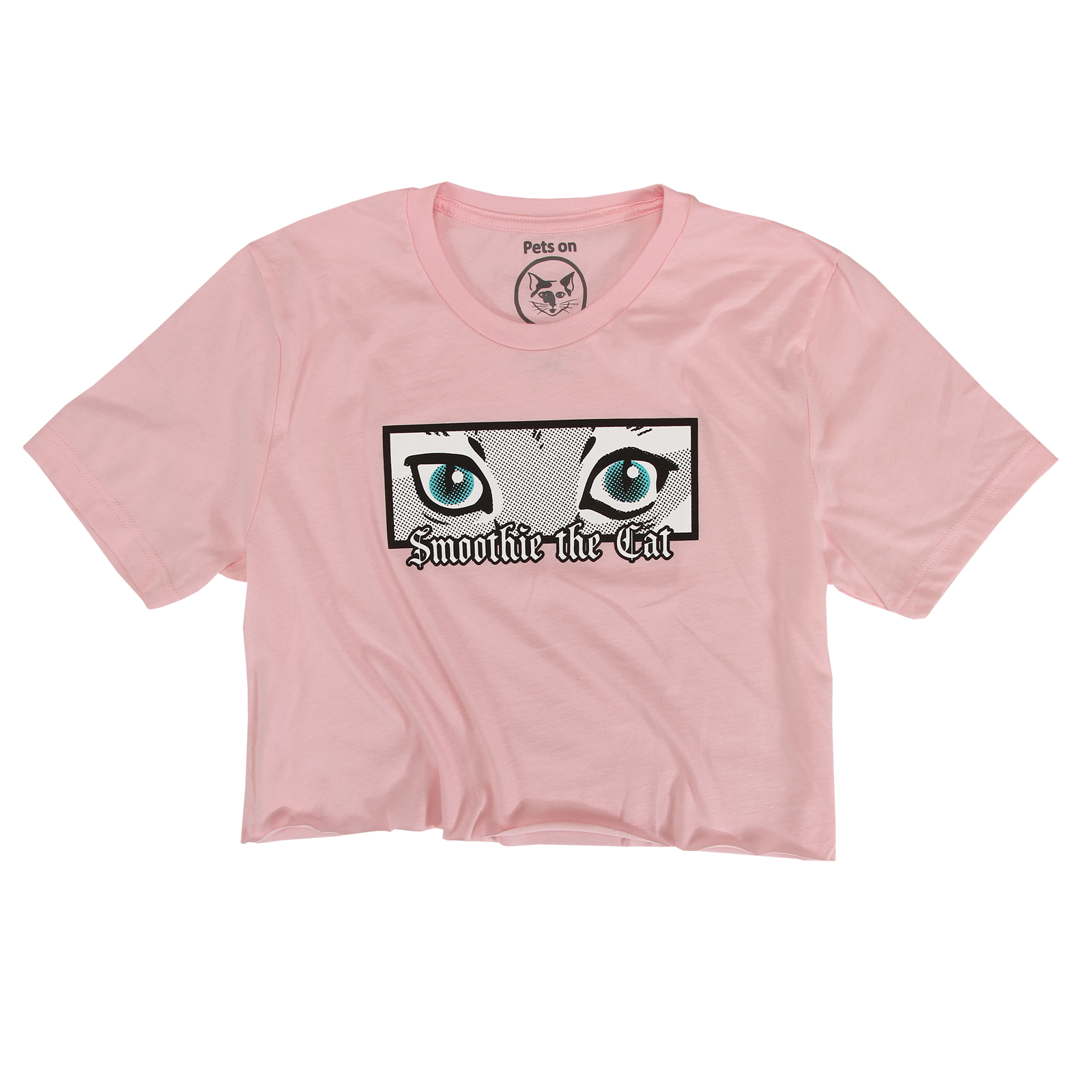 Smoothie - Eyes Raw Edge Crop Tee