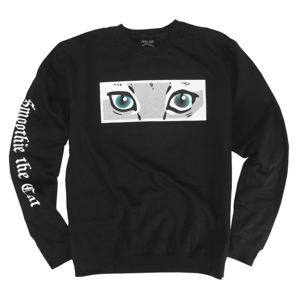 Smoothie - Eyes on Black Crewneck