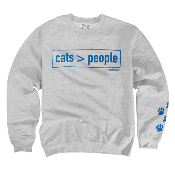 Coby - Cats > People Crewneck