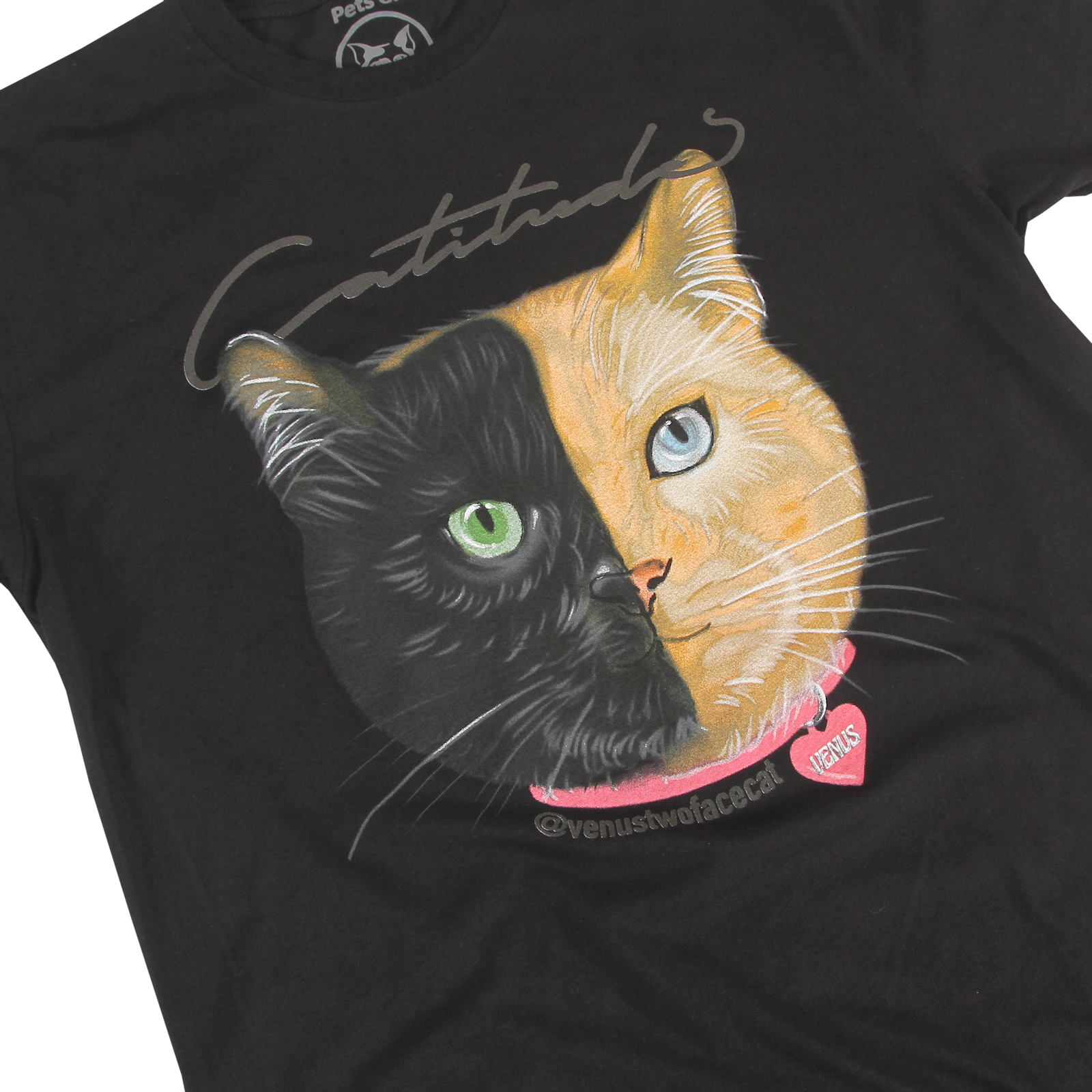 Venus - Cattitude Black T-Shirt