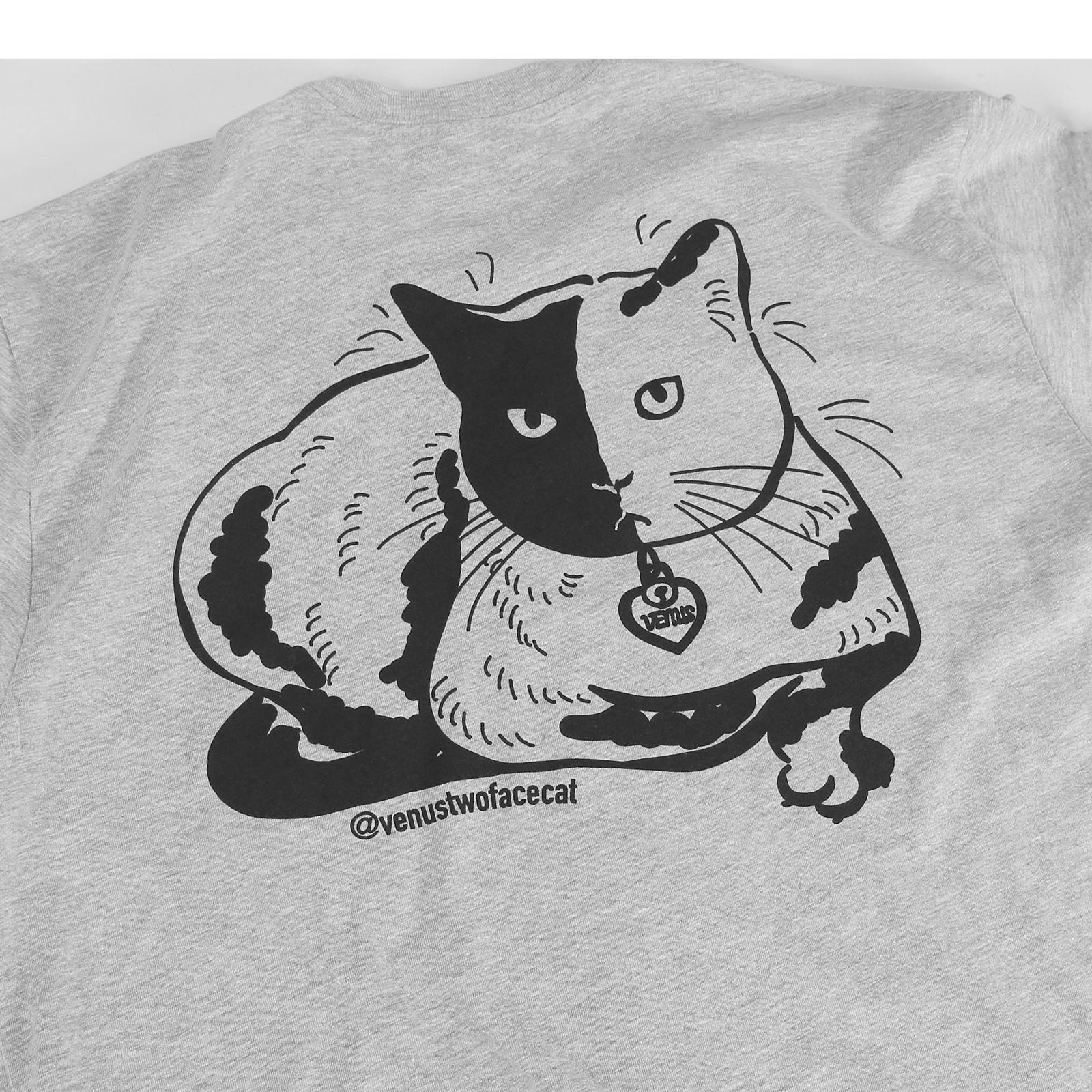 Venus - Feline Purralysis Heather Grey T-Shirt