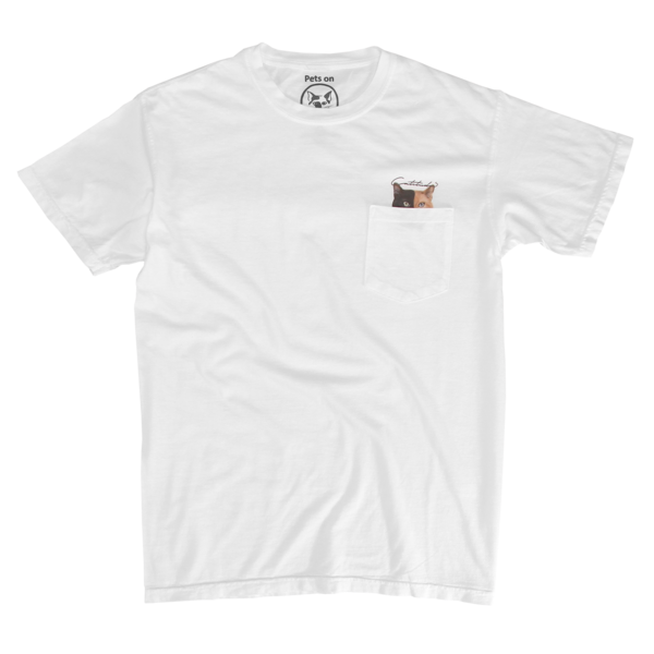 Venus - Cattitude White Pocket Tee