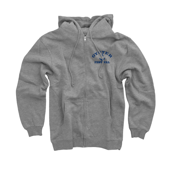 2018 Oyster Festival Heather Grey Zip Up