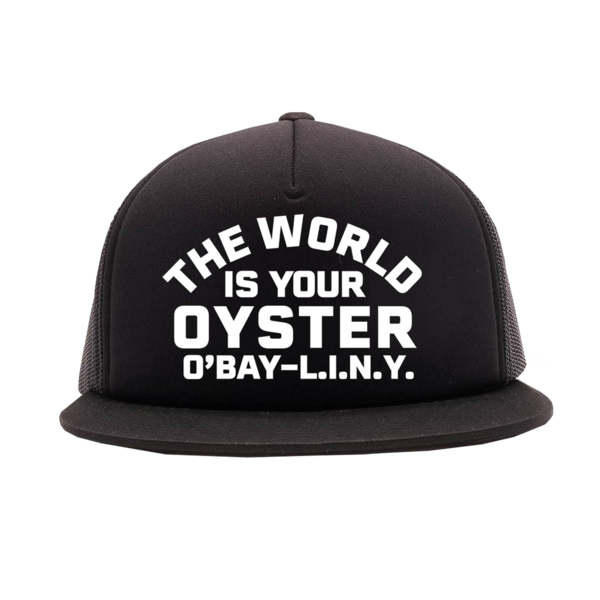 World Is Your Oyster Black Trucker