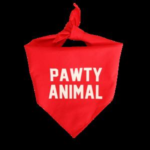 Frenchie Pawty Animals Red Bandana