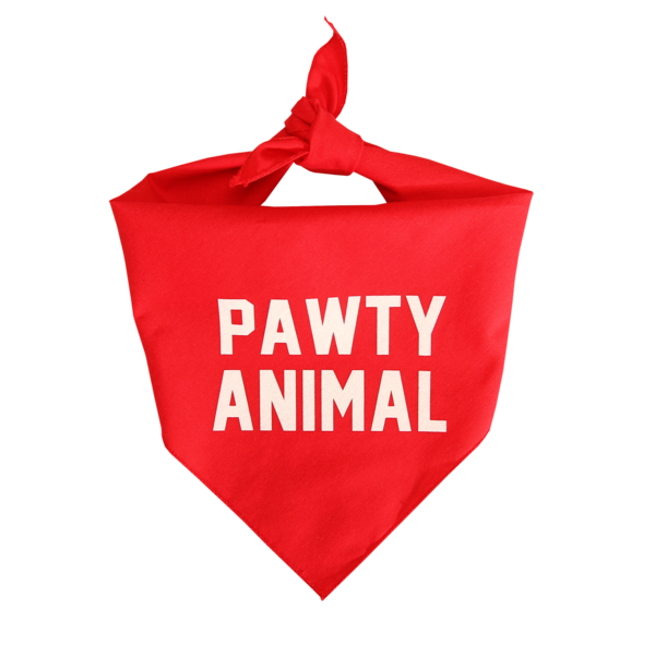 Frenchie Pawty Animals Red Bandana
