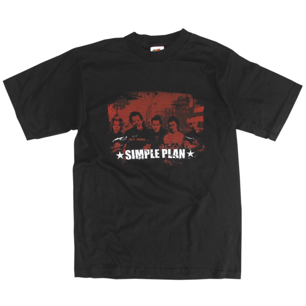 Vintage Red on Black Photo T-Shirt