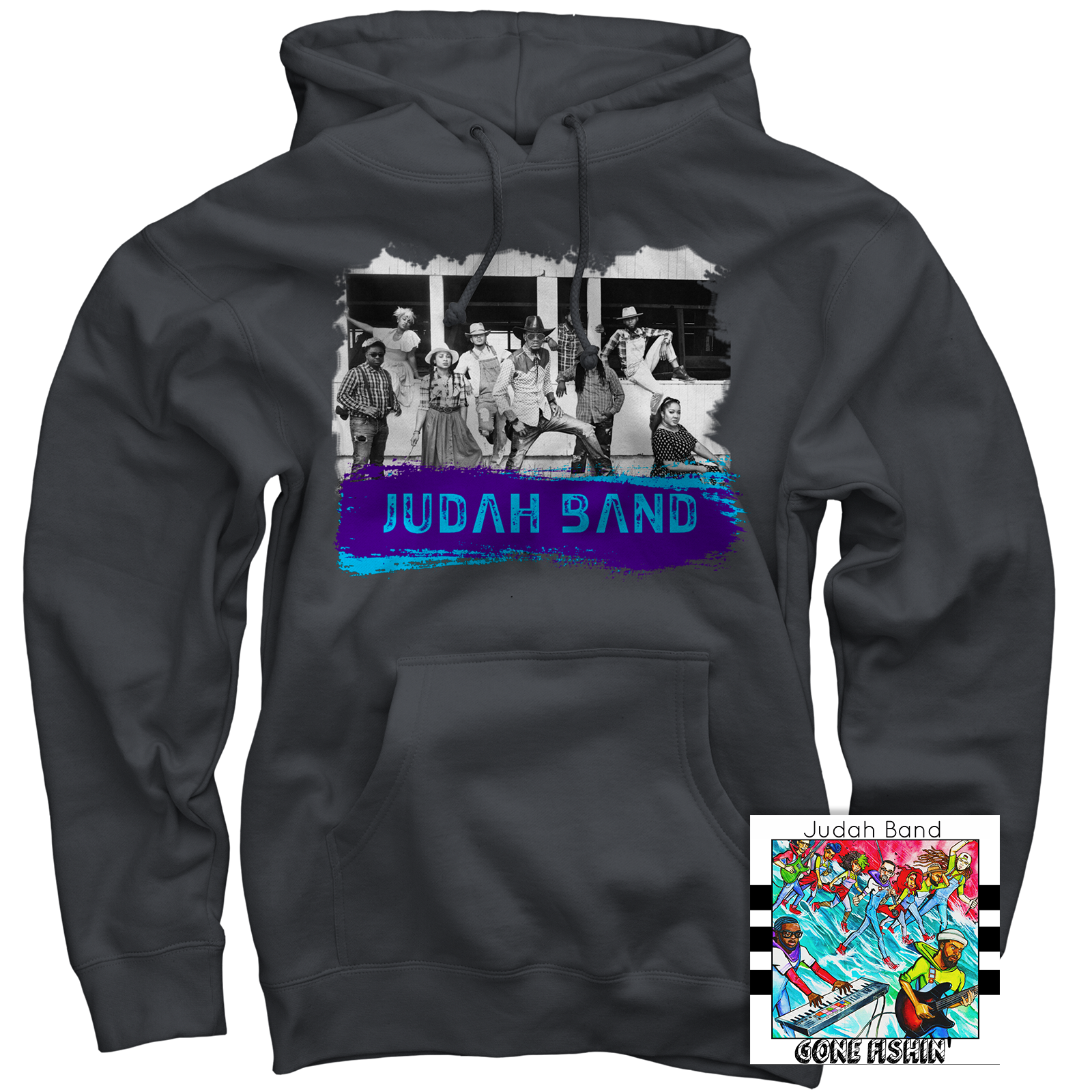 Judah Band Charcoal Pullover + Gone Fishin' CD