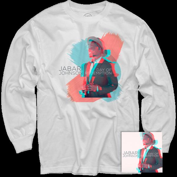 Jabari Johnson White Long Sleeve + Day of Redemption CD