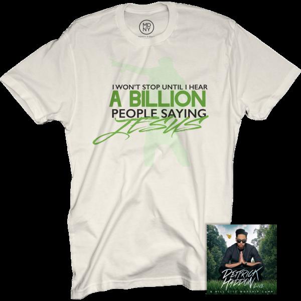 Deitrick Haddon Natural T-Shirt + Hill City Worship Camp Live CD