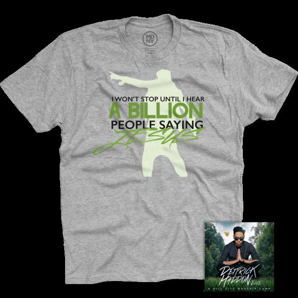 Deitrick Haddon Grey T-Shirt + Hill City Worship Camp Live CD