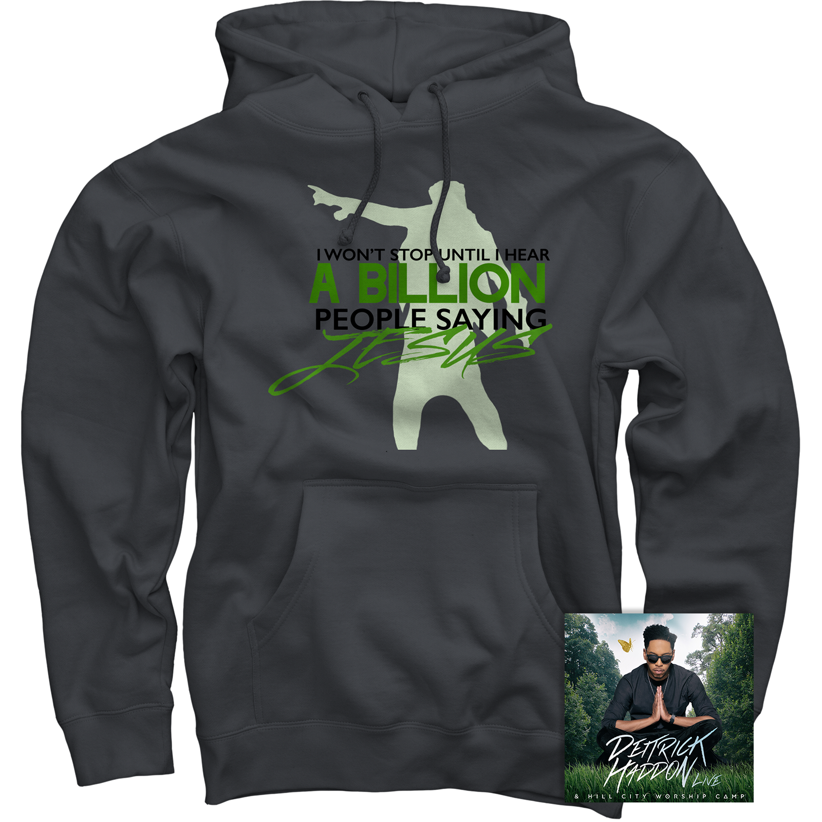 Deitrick Haddon Charcoal Pullover + Hill City Worship Camp Live CD