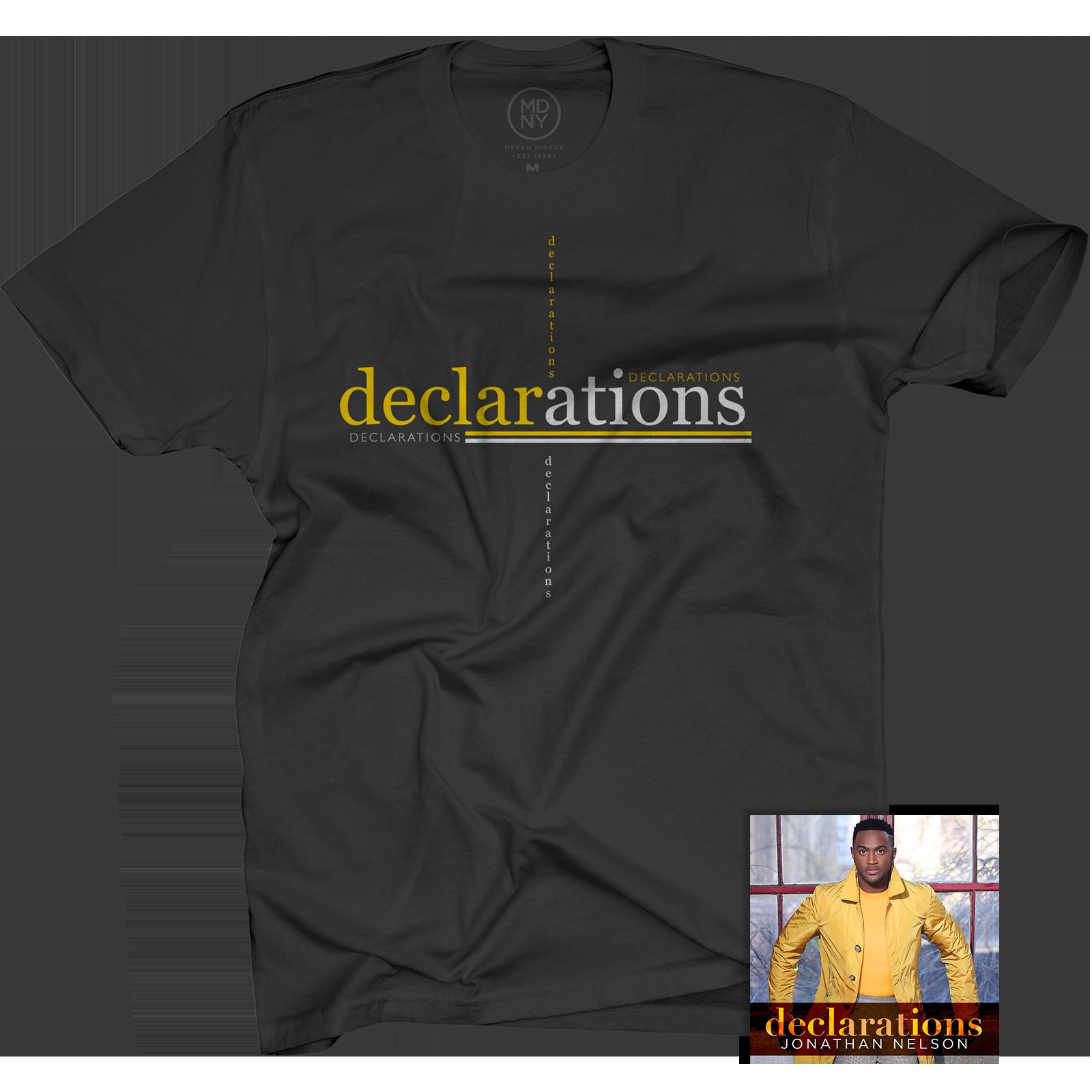 Declarations Black T-Shirt + CD