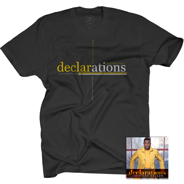 Declarations Black T-Shirt + CD