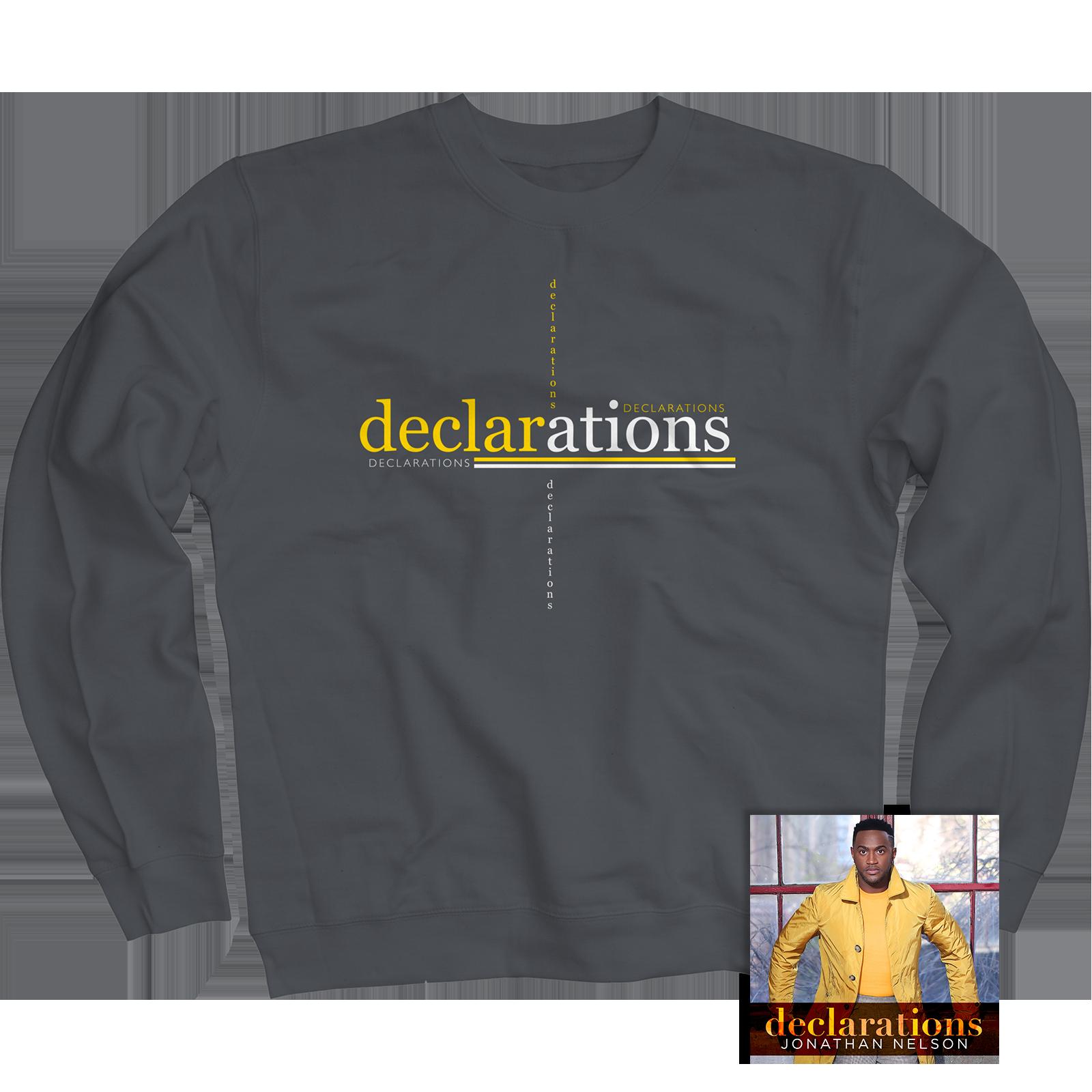 Declarations Charcoal Crewneck + CD