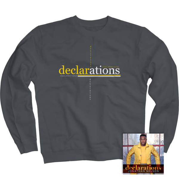 Declarations Charcoal Crewneck + CD