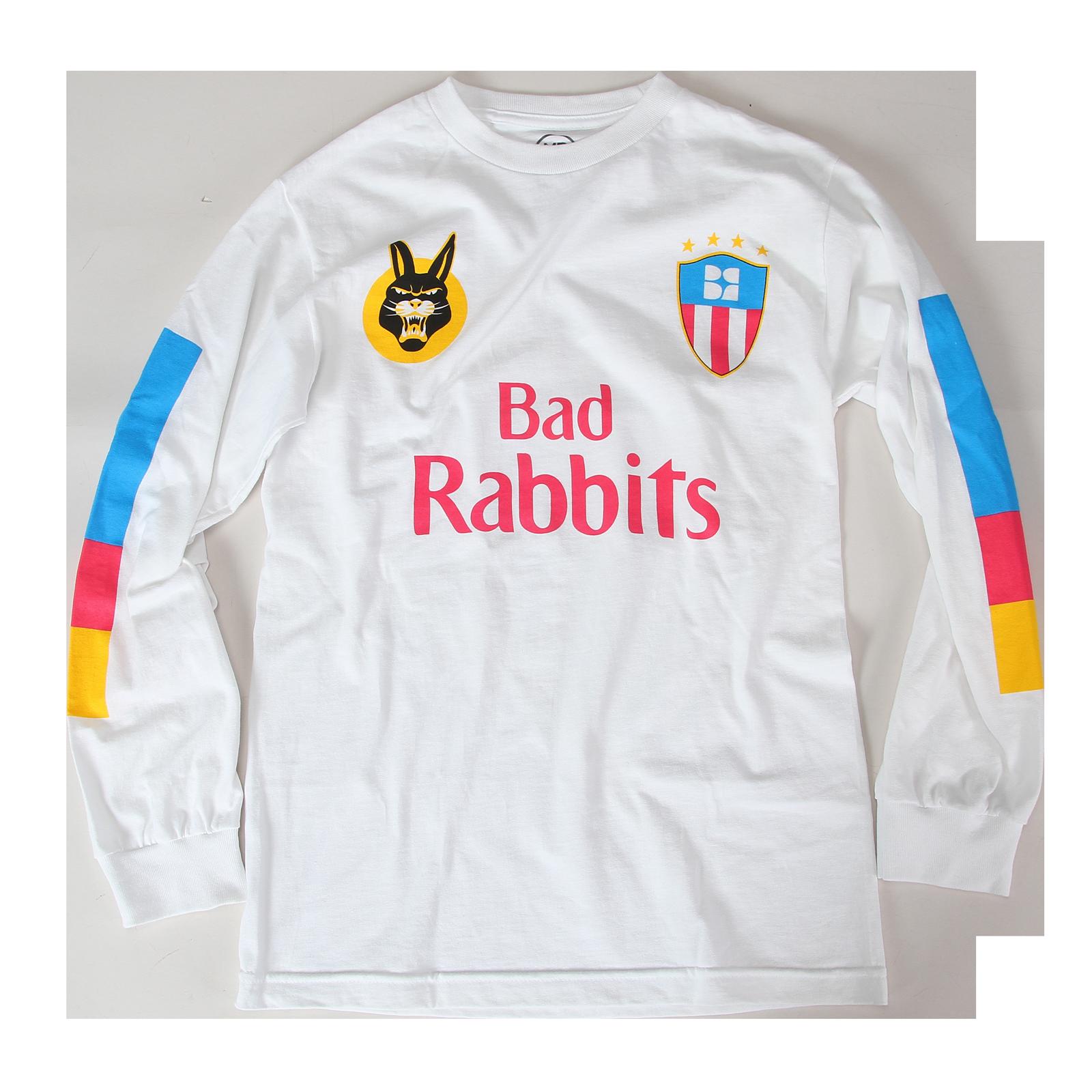 more photos e1ce5 5a7e5 Mimi Soccer Jersey White Long Sleeve - Bad Rabbits