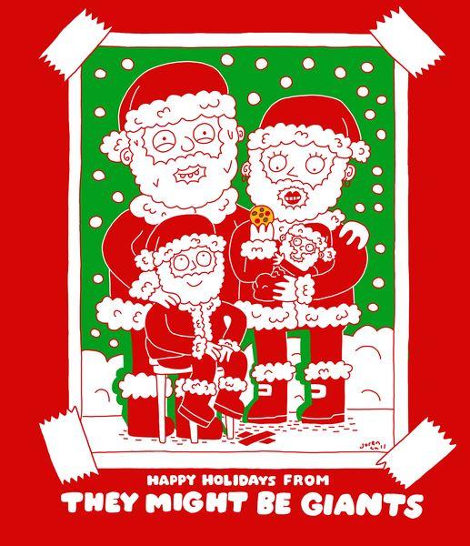 Santa's Beard Unisex T-Shirt on Red
