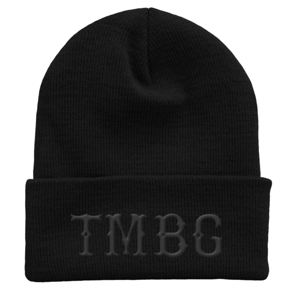 Black on Black Winter Hat