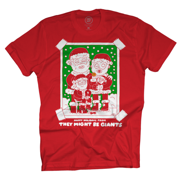 Santa's Beard T-Shirt on Red