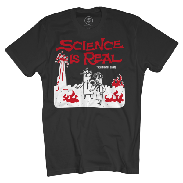Science is Real on Black T-Shirt (Men's)