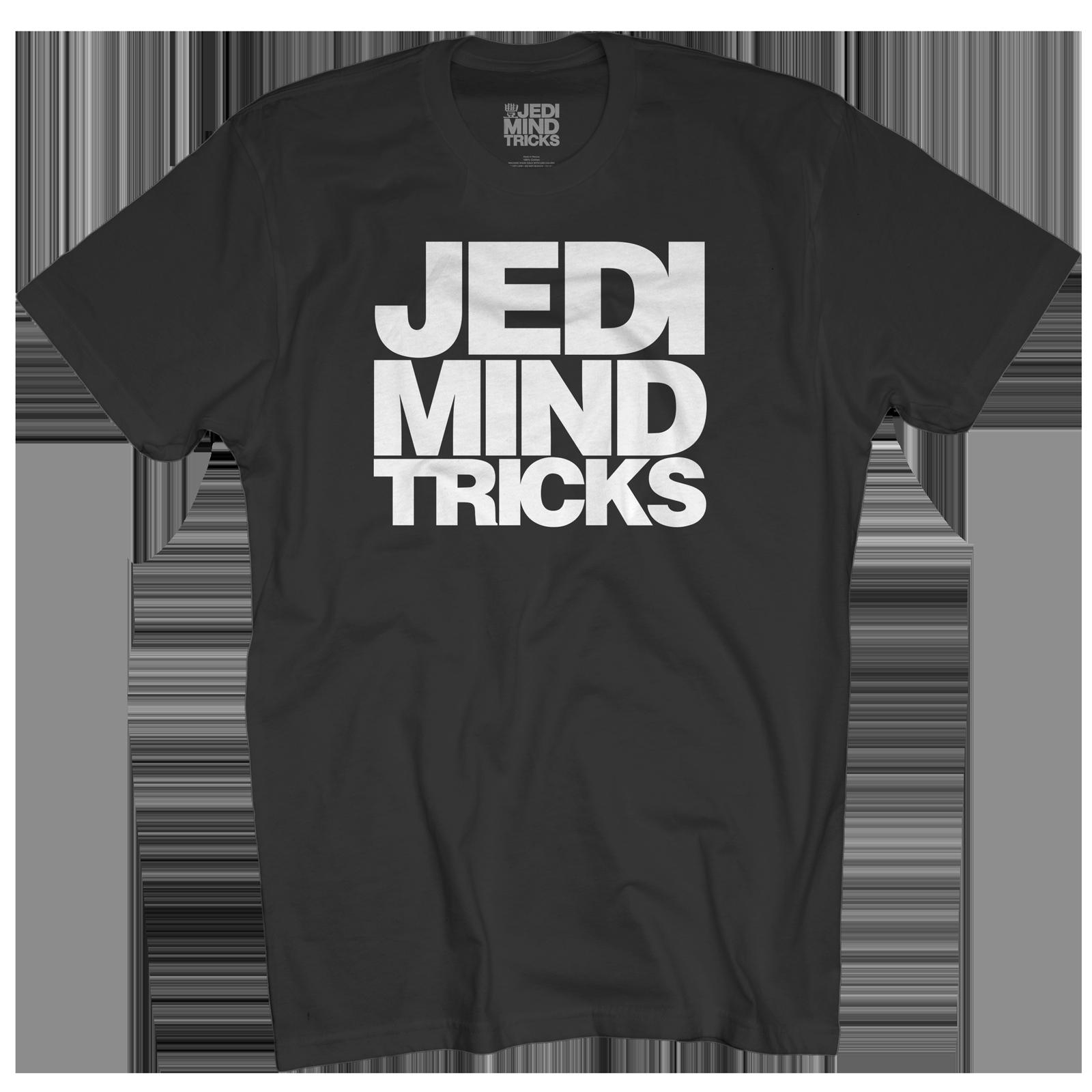 JMT Stacked Logo on Black T-Shirt