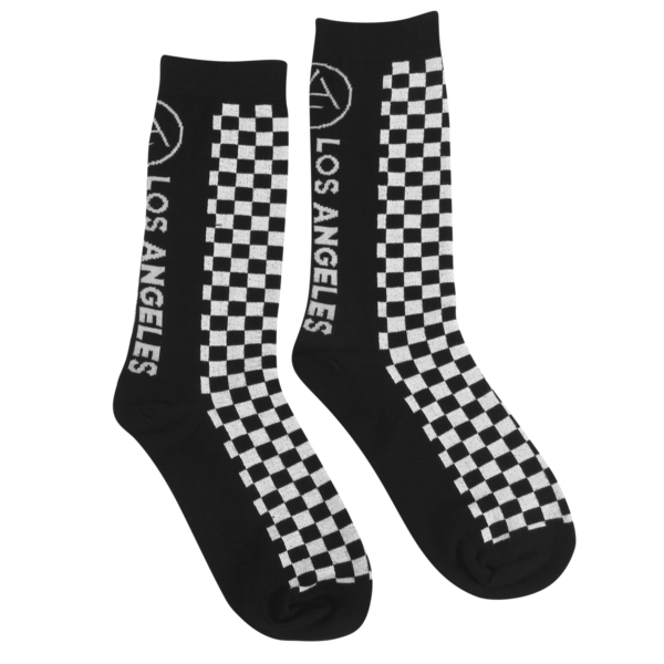 Checkered Knit Socks