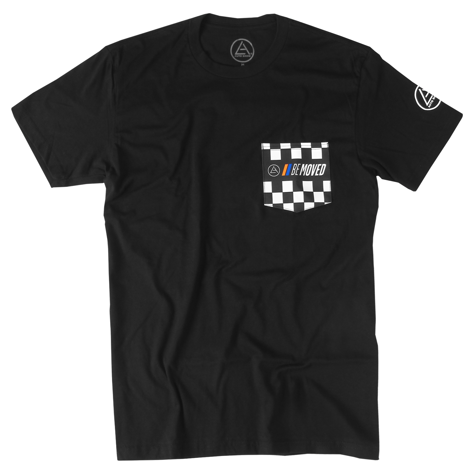 Be Moved Checkered Pocket T-Shirt