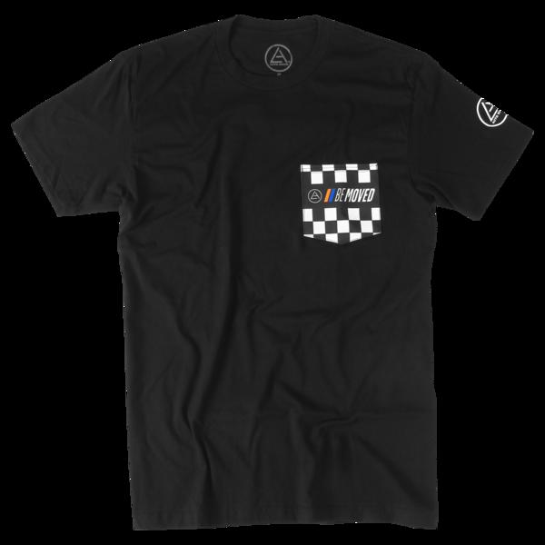 Be Moved Checkered Pocket T-Shirt