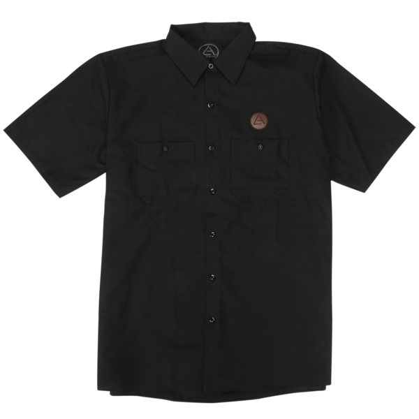 Leather Patch Work Shirt