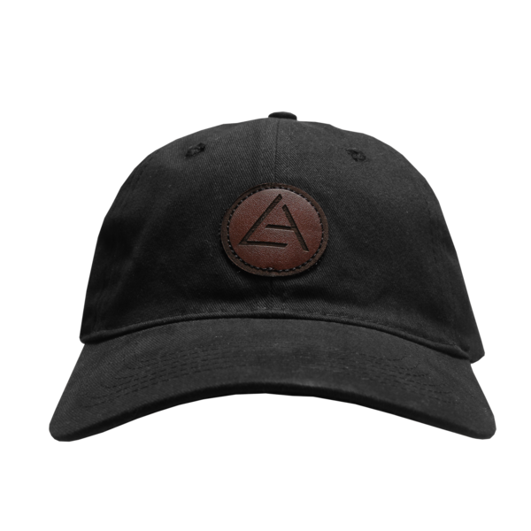 2018 Embossed Patch Black Dad Hat