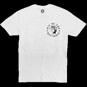DDLD Rose on White T-Shirt